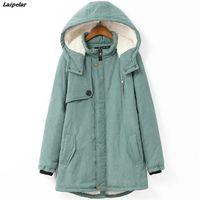 New Winter Jacket Women 2018 Warm Thick Women Down Cotton Jacket Fashion Hooded Women Parkas Outwear Plus Size Long Female Jacke