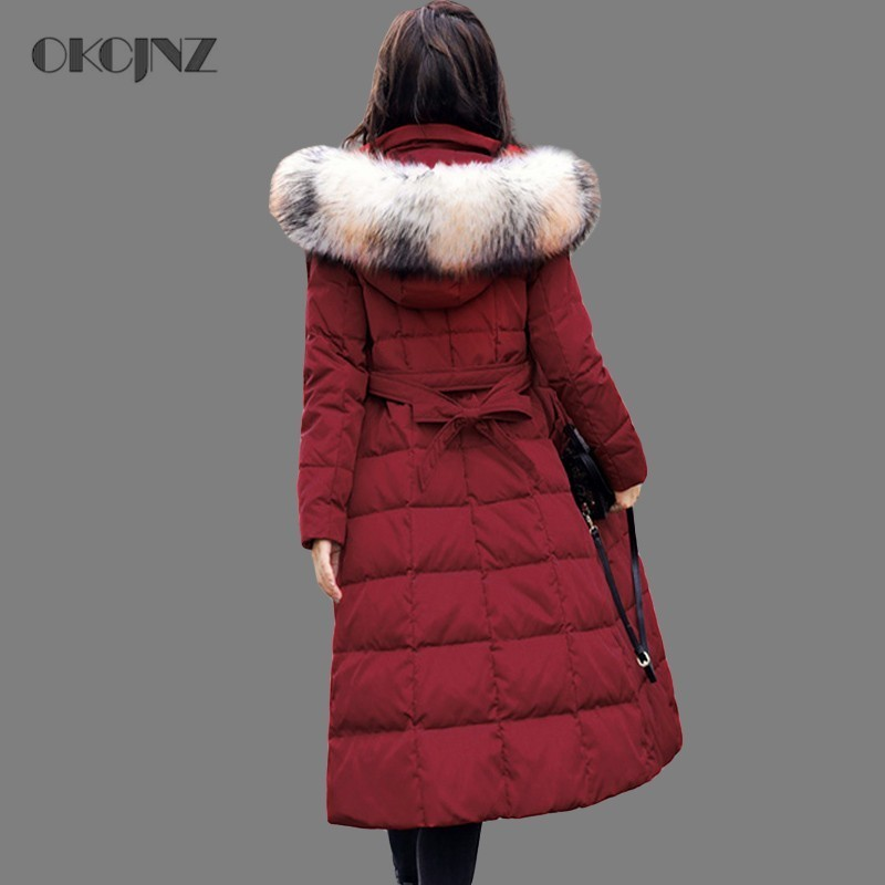 Parkas Women's Clothing Latest Collection Of 2019 Long Parka Female Coat Winter Jacket Woman Plus Size Thick Warm Overcoat Fur Colalr Cotton Outwear Korean Snow Wear Okq063