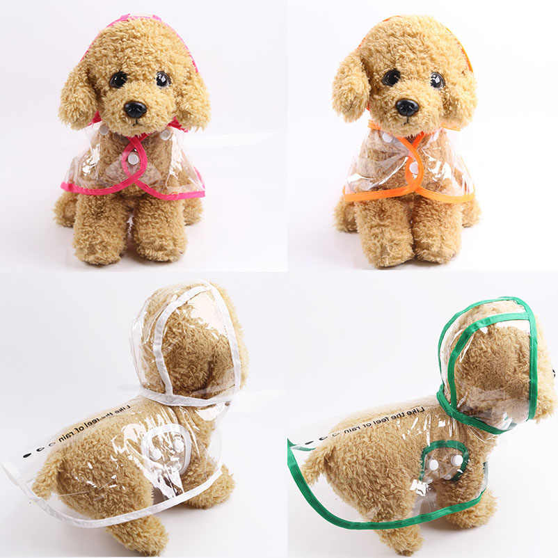 NEW Transparent Pet Rain Coat for Dogs Pet Jacket Cute Casual Waterproof Dog Clothes