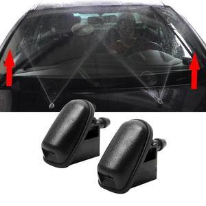 Двухслойная насадка для мытья ветрового стекла в форме вентилятора с резиновой прокладкой, автомобильные аксессуары для Ford Focu 2 Mk2 Mk3