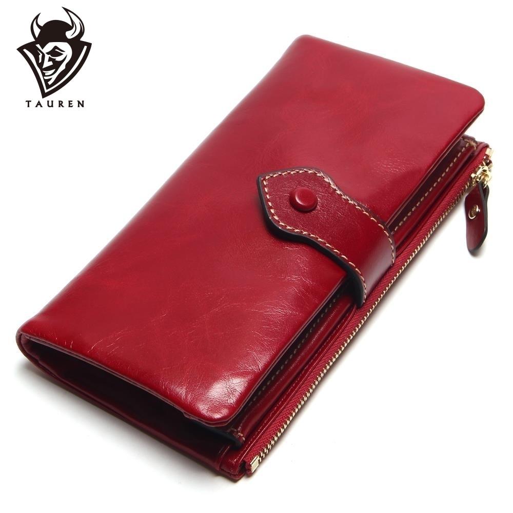 Vintage шкіра жінок гаманець європейський і американський стиль з натуральної шкіри гаманець бренд довго леді гаманець корови шкіра жіночий гаманці