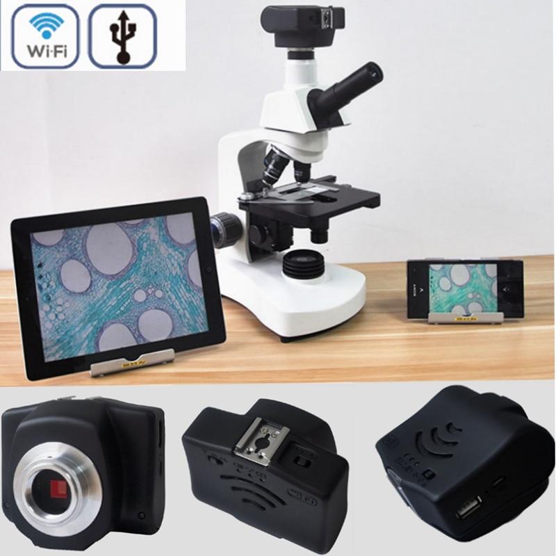 5MP HD Sans Fil WIFI microscope Numérique USB caméra Vidéo Électronique Oculaire microscope électronique pour binoculaire stéréo microscope