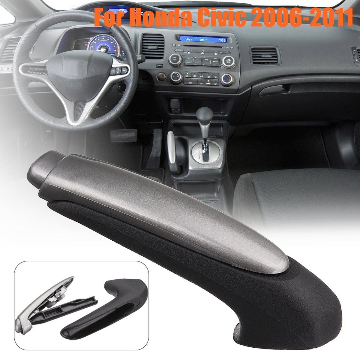 Car Handle Grip Covers Parking Hand Brake Handle Sleeve Protector Interior <font><b>Accessories</b></font> for <font><b>Honda</b></font> for <font><b>Civic</b></font> <font><b>2006</b></font> 2007 2008 -2011 image
