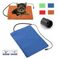 40X30CM Household Pet Heating Pad Dog Cat Electric Heating Pad Waterproof Adjustable Winter Warming Mat For Puppy Kitten