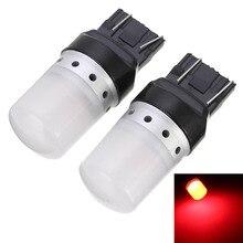 2pcs T20/7443/W21/5W SRCK socket RED LED Bulb 12V 24V Car Lights Turn Signal Brake Reverse Tail Lamp Auto 900LM 10W цены