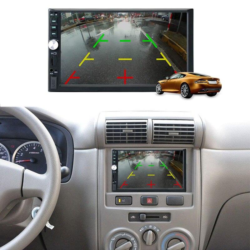 7 USB TFT FM Car Radio MP5 Video Player 1080PHD 7012B multi language Digital Screen Bluetooth