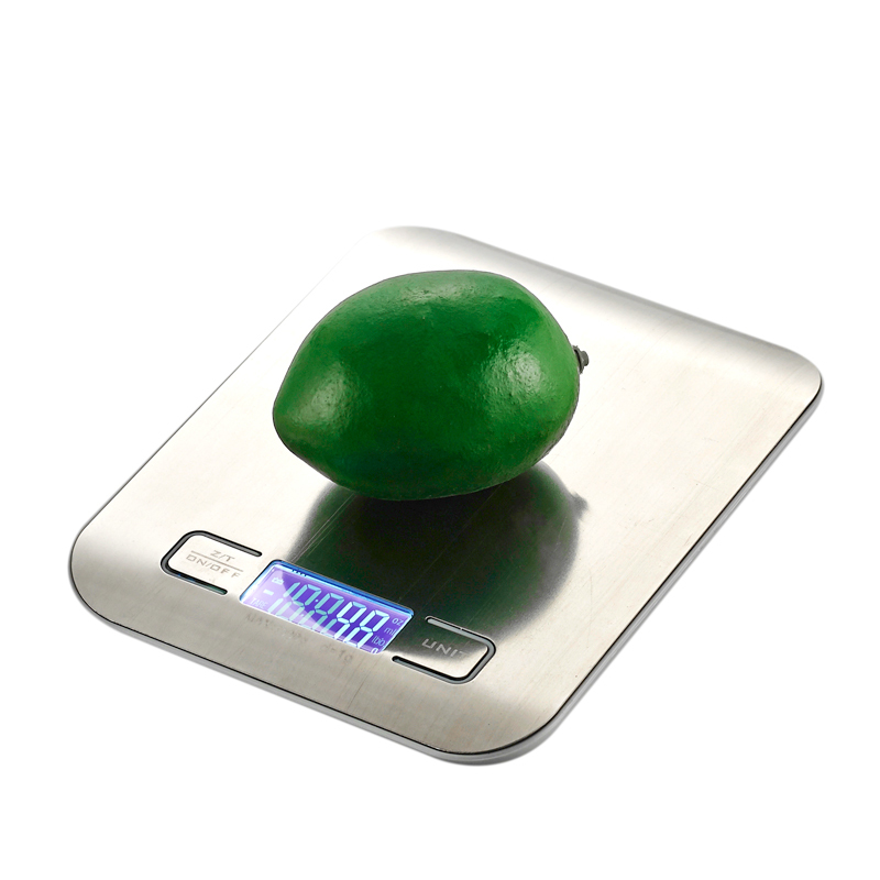 Led Digital Kitchen Scale 11lb /5 Kg Kichen Accessories Weight Device Food Diet Rust -free Balance Sheets