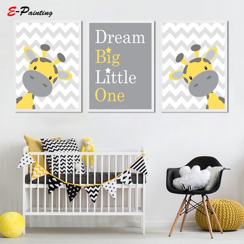 Baby Boy Nursery Wall Art Picture