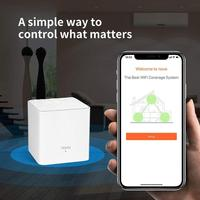 2pcs/set Tenda Nova MW3 AC1200 Dual Band Wireless Router 2.4/5GHz WiFi Repeater System APP Remote Manage
