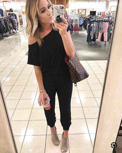 Solid Casual Sexy Off Shoulder Short Sleeve Women Suit 2019 New Arrival Women Summer Fashion Slim Elegant Long Rompers Female