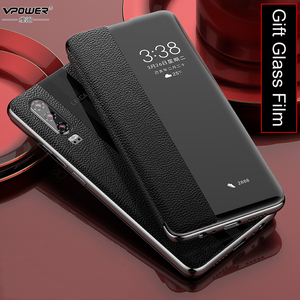 Image 4 - Huawei P30 Pro Genuine Leather Case Vpower Luxury Smart View Window Leather Flip Cases For Huawei P30 / P30 Pro Phone Covers