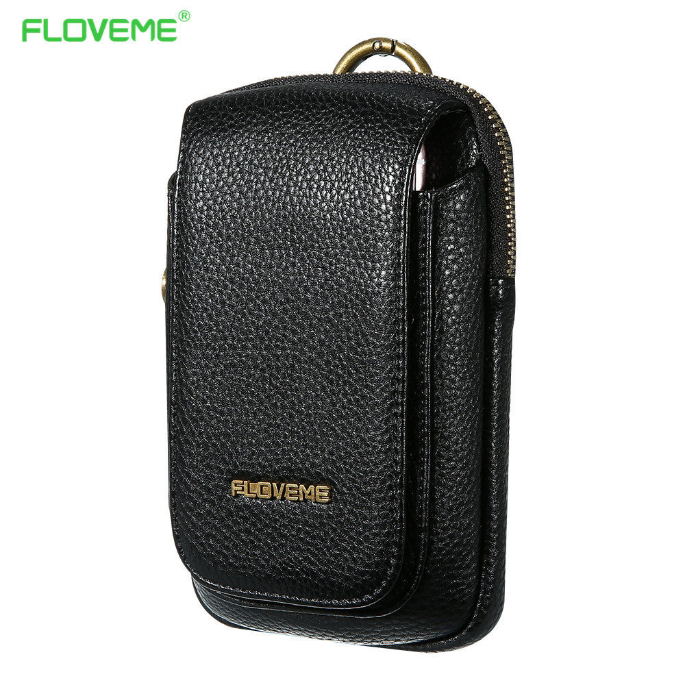 FLOVEME Leather Bags Pouch Phone Case For iPhone 8 7 6 6s Plus 5 5s SE Card Slot Samsung Xiaomi Fundas Cover