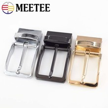Meetee Business Casual Mens DIY Leather Belts Buckle Automatic Pin Rotating Cowboy Jean Accessories