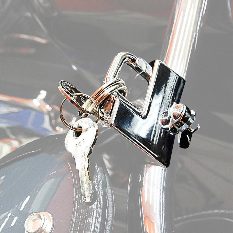 Universal Motorcycle Helmet Lock Motorbike Hanging Hook Keys Set Handle Bar Moto Accessories Parts For 22mm Faucet Handlebars
