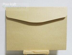 Image 5 - 50pcs 190x135mm Color Envelopes Invitation Gift Envelope 120gsm Plain/Pearl Paper Envelope
