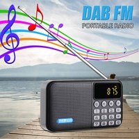 Portable Radio Player Receiver Digital DAB DAB+FM Radio bluetooth Stereo Speaker Outdoor FM Receiver Music Player with Strap