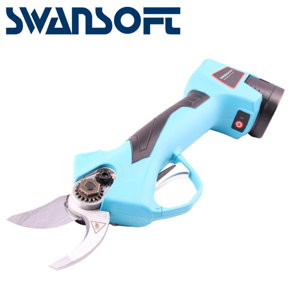 Electric pruning shears garden pruners pruning saw secateurs professional portable pruner for vineyard orchards CE free shipping-in Pruning Tools from Tools    3