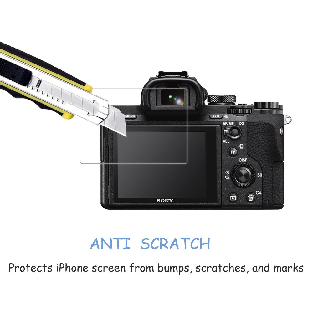 2x Sony Alpha 7R III Protector Pantalla Película Protectora Transparente