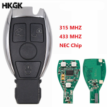 цена на 10pcs/LOT 3Buttons Smart Remote Key Keyless Fob For Mercedes Benz after 2000+ NEC&BGA replace NEC Chip 315mhz/433mhz
