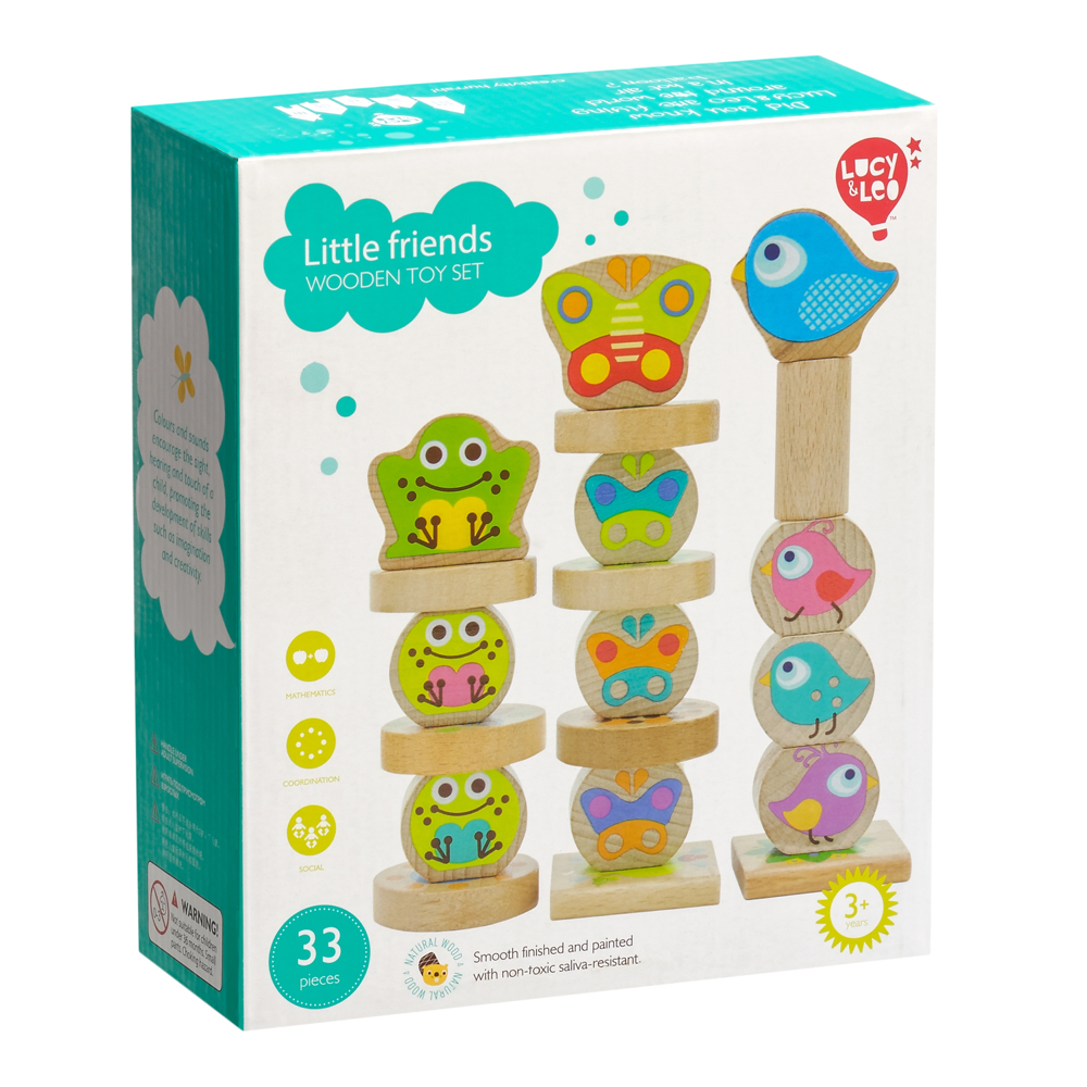 Wooden Blocks Lucy&Leo LL198 childrens educational toy wooden blocks lucy