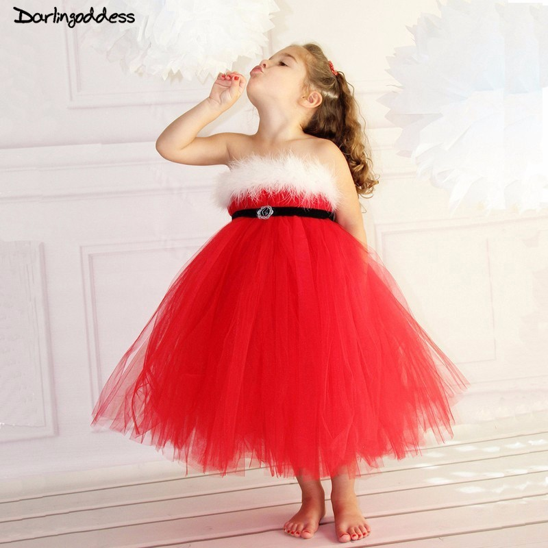 Red   Flower     Girl     Dresses   for Weddings Ball Gown Christmas   Dress   for Baby Kids Pageant   Dress   for   Girls   Formal Evening Gowns