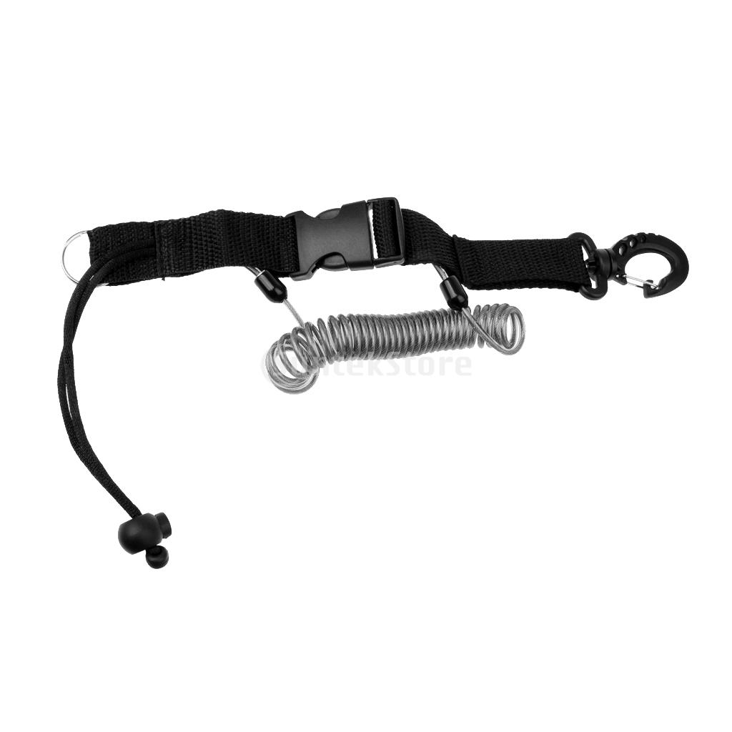 Spiral Coiled Stretch Scuba Diving Lanyard Strap Quick Release Buckle Holder For Dive Camera Light Torch Equipment Accessories