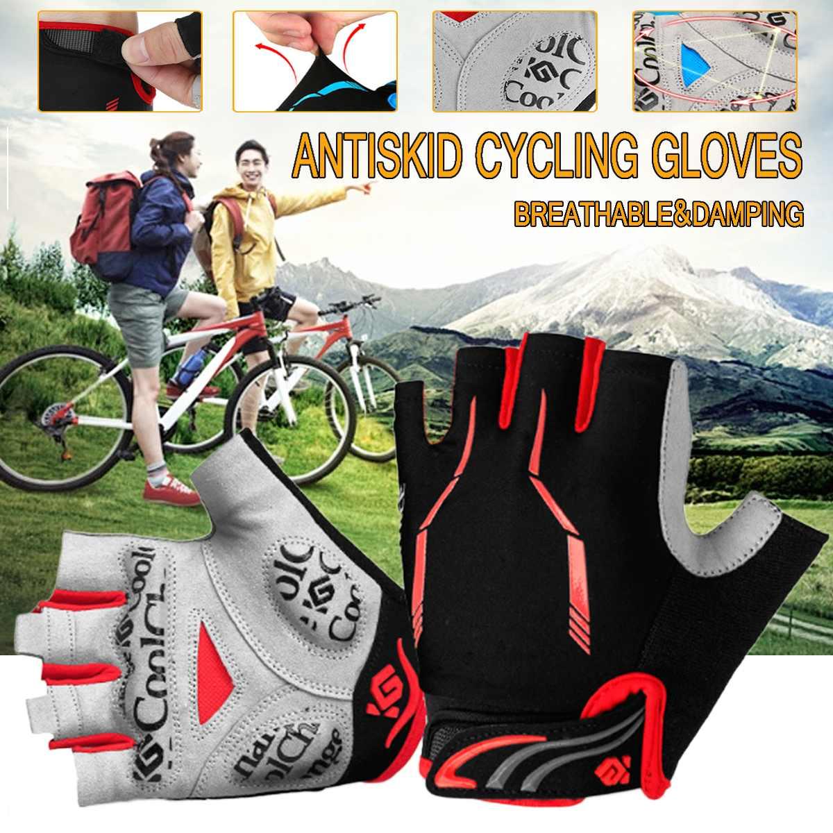 Antiskid Cycling Gloves Road Bike GlovesShockproof MTB Road Half Finger Bicycle Glove For Men Woman Fingerless Sports Gloves
