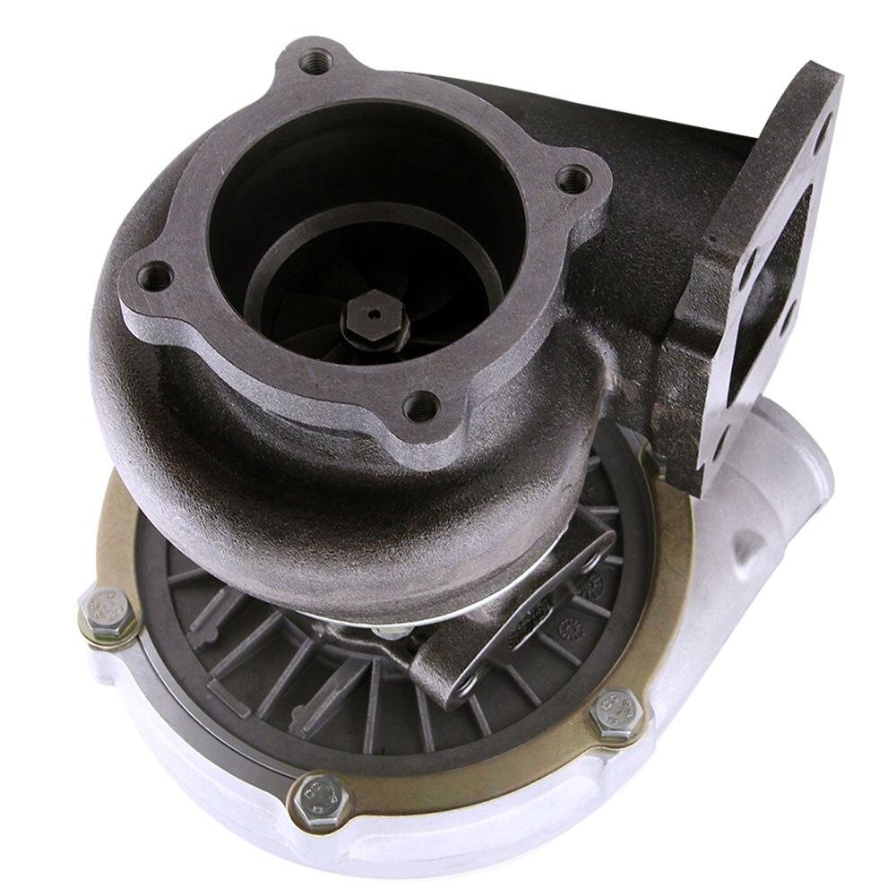 Turbocompresor GT30 GT3037 GT3076 Turbo 500bhp + líneas de alimentación de aceite de retorno de drenaje de aceite para todos los motores 6/8 cyl 3.0L 5.0L - 5