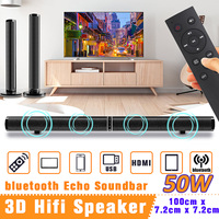 50W Wireless bluetooth TV Sound Bar Speaker Sub Woofer Surround Stereo Home Theatre System Computer Hang Wall Soundbar