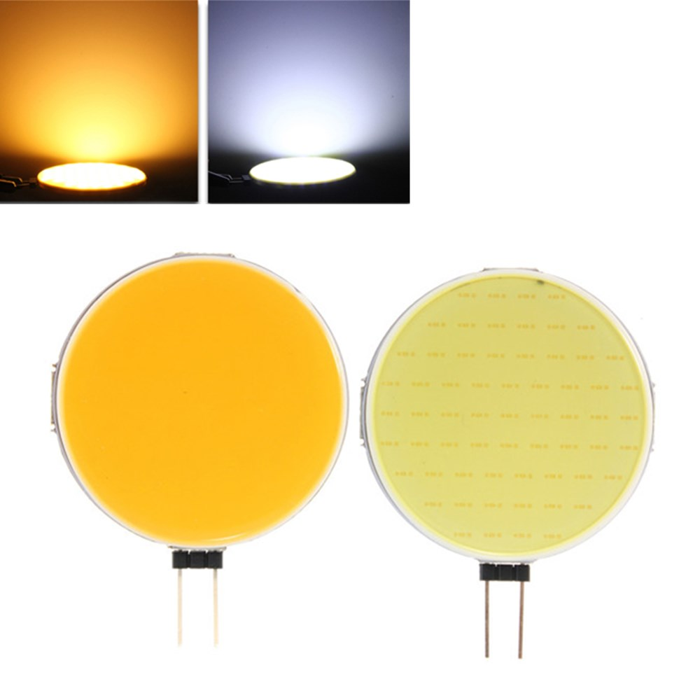 1pc/5pcs/10pcs LED Spot Light Bulb G4 COB 12W Pure Warm White LED 63 Chips Replace Halogen Lamp Spot Light Bulb LED G4 COB Bulb