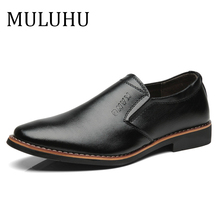MULUHU Spring Autumn New Leather Shoes Men Casual L