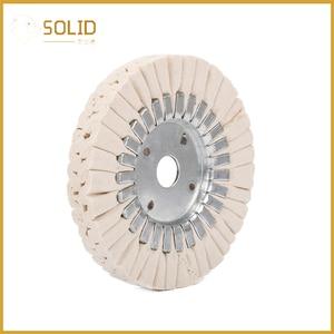 Image 4 - 6 zoll Baumwolle Atemwege Polieren Tuch Rad Polier Pad 20mm Bohrung für eine Spiegel Finish auf Aluminium Und Edelstahl polieren Werkzeug