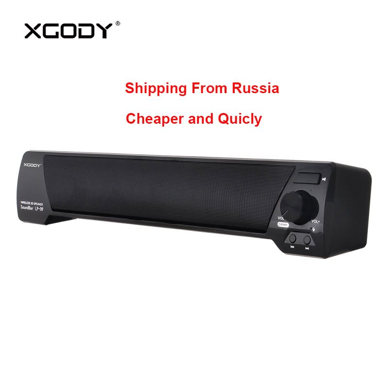 Xgody Portable Speaker Bluetooth Soundbar For Home Theater Tv Stereo Wireless Bt Sound Bar With Mic Handsfree Ship From Russia