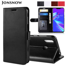 JONSNOW Wallet Leather Case for Asus Zenfone Max M2 ZB633KL Flip Protective Cover ZB601KL ZE620KL ZE554KL ZC520KL