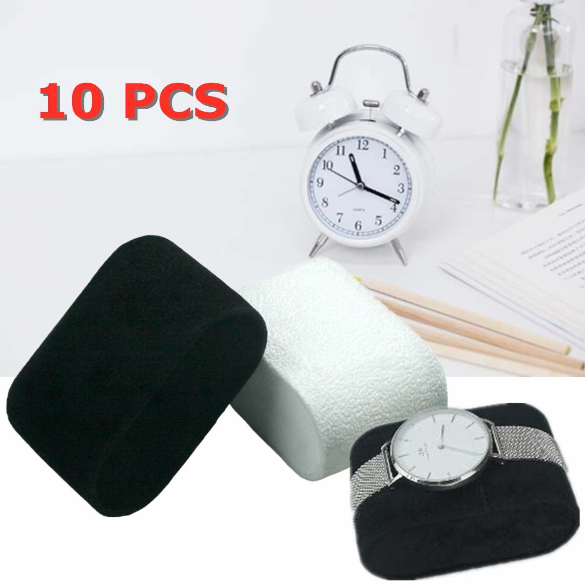 10pcs Velvet Bracelet Bangle Watch Pillow Holder For Jewelry Watches Case Box Jewelry Packaging & Display Watch Accessories