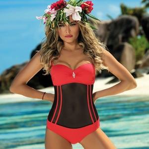 Image 3 - שחור נטו מקשה אחת בגד ים סגור Push Up סקסי בגדי ים חוף רחצה גוף חליפת קבלנות לשחות ללבוש 2019 נשים של חליפת שחייה