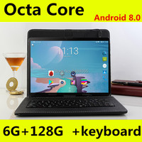 10 inch pc tablet 1280*800 IPS MT8752 8 Core Android 8.0 Tablets 4GB RAM 128GB ROM Dual SIM 3G 4GLTE Phone Call Tablet 10.1