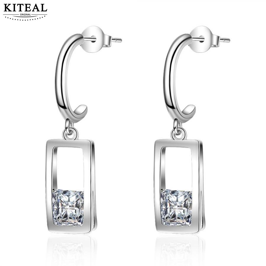 806a3c93c KITEAL 925 Newest Arrival silver color dangling earrings for women  rectangle earrings earings Prom Accessories-in Stud Earrings from Jewelry &  Accessories ...