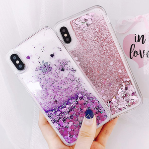 Love Heart Liquid Quicksand Soft Case for Samsung Galaxy J4 J6 A6 A8 Plus A7 A750 2018 S10 Plus S10E S7 Edge J3 J5 J7 2017 Cases(China)