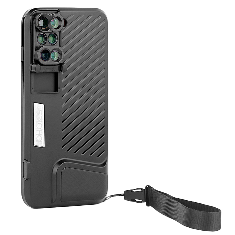 Pro Pholes 6 en 1 Lentille De Téléphone avec étui pour iphone 7 8 Plus Large Angle10X Macro Lentille Téléphone Téléobjectif Zoom Lentilles