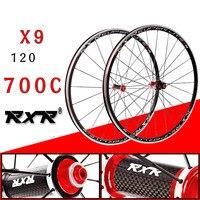 2018 HOT Sale 700C Carbon Drum Wheels bmx Road Bicycle Wheel V Brake Aluminium Road Wheelset Bicycle Wheels