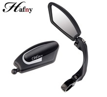 Bike Rear view Mirror Hafny Unbreakable Rotatable Safety Back Review Stainless Aluminum Flexible Side High Quality
