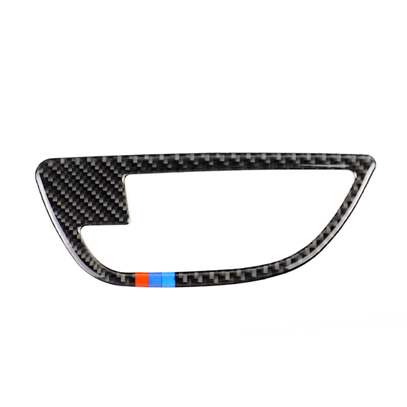 Image 3 - For BMW 5 Series F10 2011 2012 2013 2014 2015 2016 2017 4pcs Carbon Fiber Car Door Handle Door Bowl Cover-in Interior Mouldings from Automobiles & Motorcycles