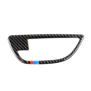Image 3 - Para BMW serie 5 F10 2011, 2012, 2013, 2014, 2015, 2016, 2017 4 Uds de fibra de carbono coche puerta manija de la puerta de la cubierta de cuenco