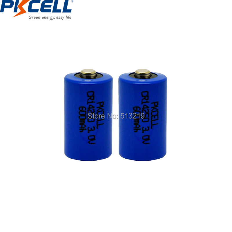 2PCS PKCELL CR14250 CR <font><b>1/2AA</b></font> 14250 CR-<font><b>1/2AA</b></font> 3V 600mAh Lithium Battery for Lamp Radio Eletronic Lock image