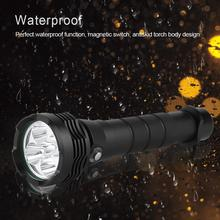 led flashlight Outdoor High Bright Torch 100m Waterproof Flashlight for Diving Hunting Camping Lighting small flashlight