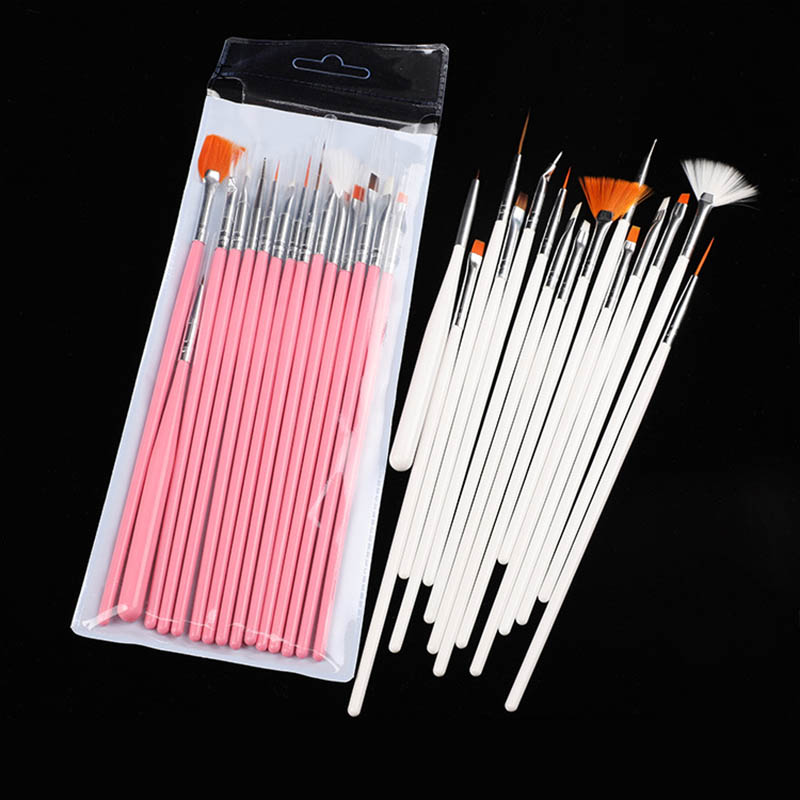 15Pcs Gel Nails Accessoires Beauty Popular Professional Drawing Pen Gel Painting Nail Pens Brush Nail Art Nail Tools