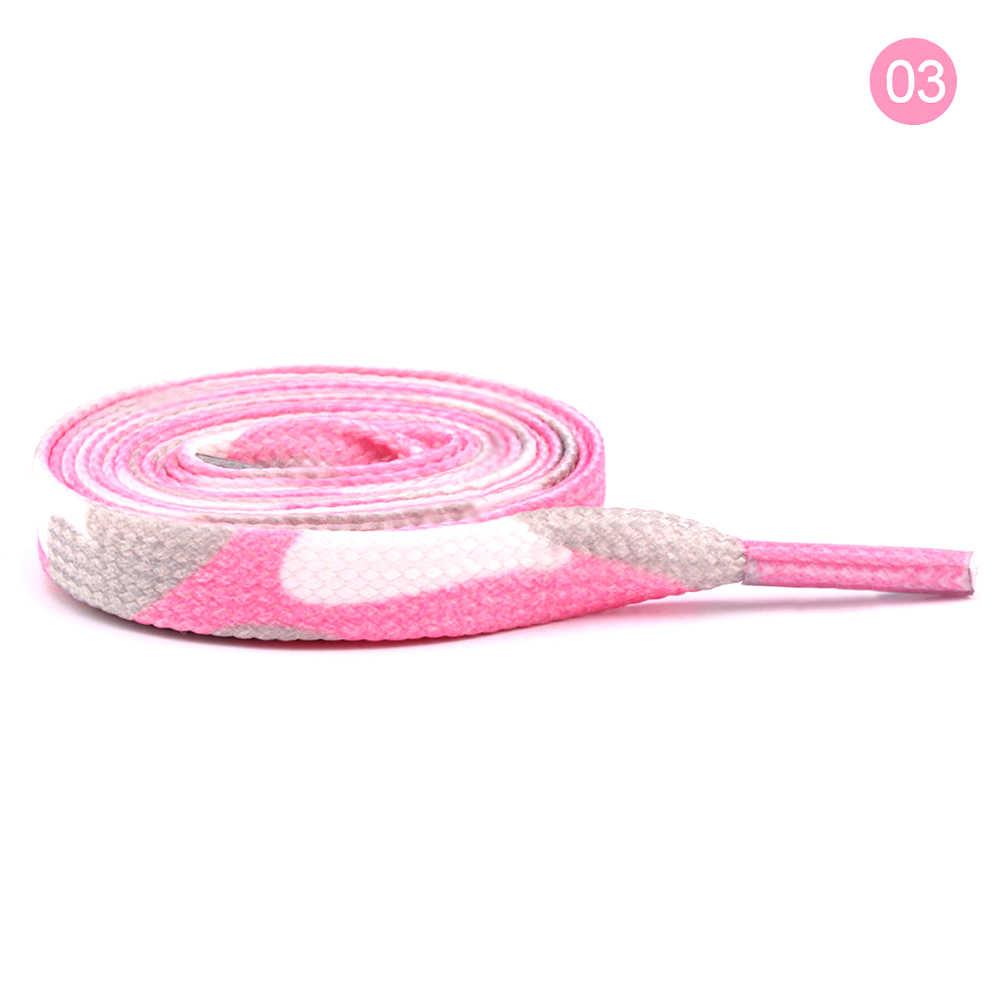 Unisex thời trang Phẳng Dài Rainbow Gradient In Hình Dây Giày Cho Giày Giày Polyester Nam nữ Dây Giày Dây 80- 120cm