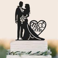 Свадебные вставка для торта нетоксичный акриловый торт Топпер невеста жених Mr Mrs торт Топпер украшение для свадебного торта