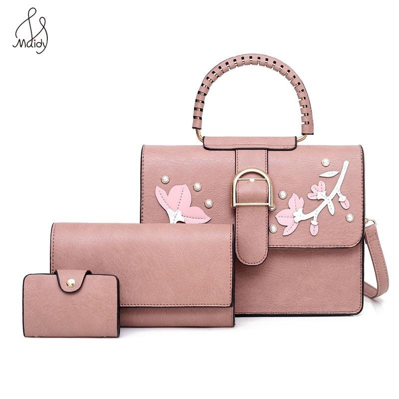 Женская сумка композитная сумка 3 компл. Сумка-тоут сумка через плечо сумка с мягкой искусственной кожей сумка-мессенджер кошелек Maidy